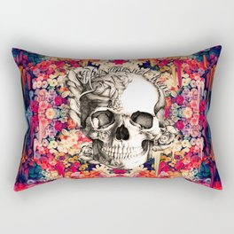 You are not here Day of the Dead Rose Skull. Rectangular Pillow