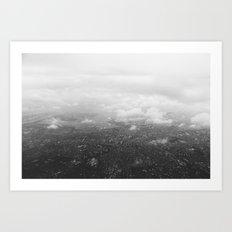 Tokyo under clouds Art Print