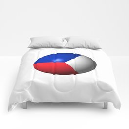 France Flag Sphere Comforters