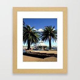 Beyween the Pine Trees Framed Art Print