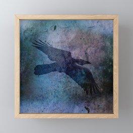 The Night Raven Framed Mini Art Print