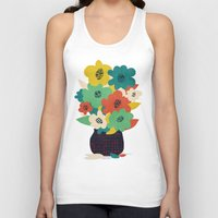 matisse Tank Tops featuring Paper Flowers by Picomodi