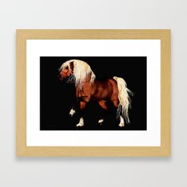 HORSE - Black Forest Framed Art Print