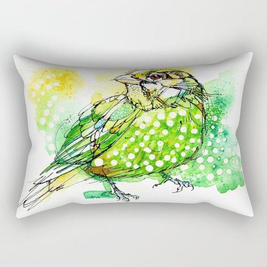 Australian Green Catbird  Rectangular Pillow