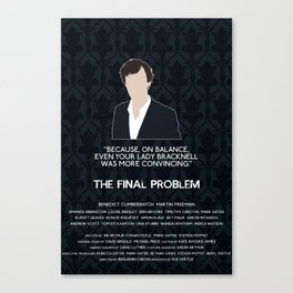 The Final Problem - Sherlock Holmes Canvas Print