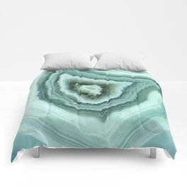 The world of gems - light blue agate Comforters