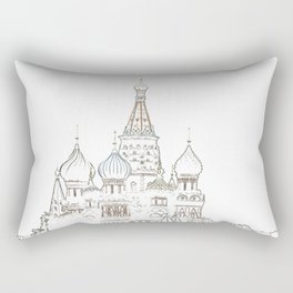 Saint Basil's Cathedral (on white) Rectangular Pillow