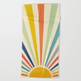 Sun Retro Art III Beach Towel