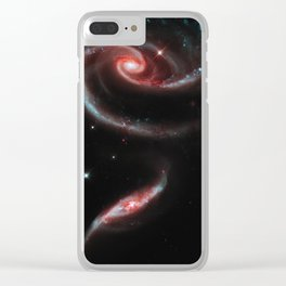 Rose of Galaxies Clear iPhone Case