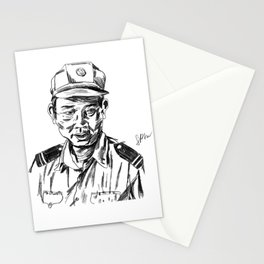 Vietnamese Security Guard in Uniform Stationery Cards