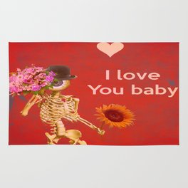 I love you baby (Monsieur Bone ) Rug