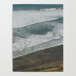 Waves on the Beach Poster