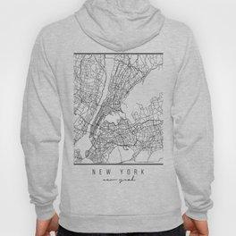 New York New York Street Map Hoody