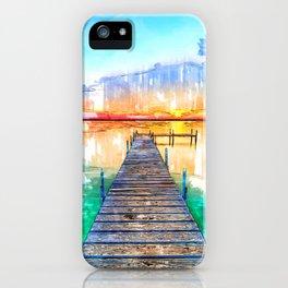 Wisconsin USA Lake Jetty - Jetties Around The World iPhone Case