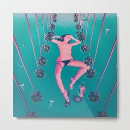 Quiverish California - Erotic Collage Art Metal Print