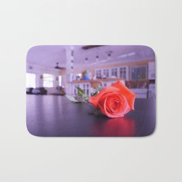 Purple Scale Rose Bath Mat