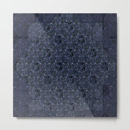 Loose Geometry / dark - by Fanitsa Petrou Metal Print