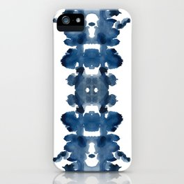 Blue Ink Blots iPhone Case