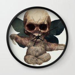 Sloths, Goths, and Moths Wall Clock