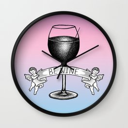 Be Wine (Pastel Edition) Wall Clock