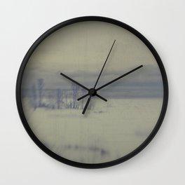 Island in the snow Wall Clock