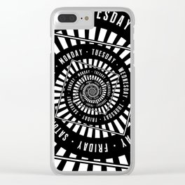 Days of The Week Clear iPhone Case