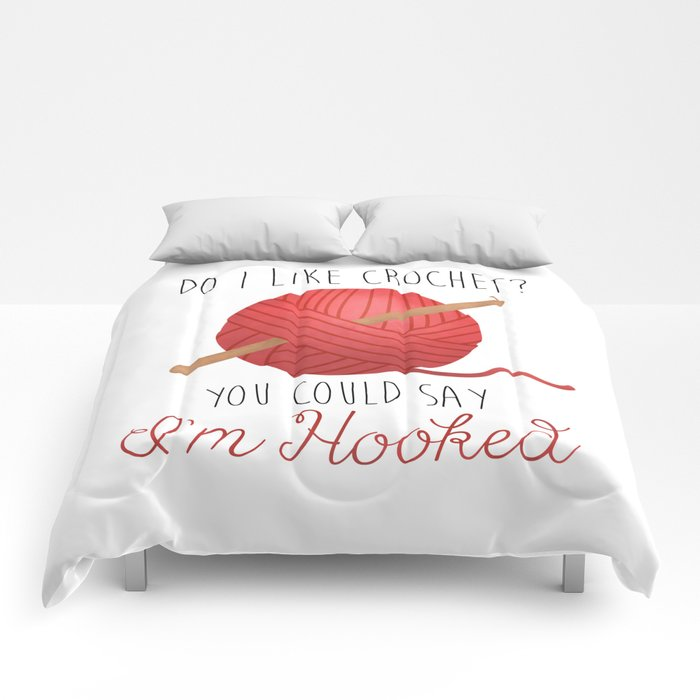 Do I Like Crochet? You Could Say I'm Hooked  |  Red Comforters