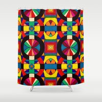 introvert Shower Curtains featuring Introvert/Extrovert by Art by Andrew Smith