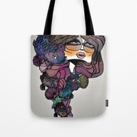pisces Tote Bags featuring Pisces by annabours