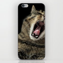 Cat Yawning iPhone Skin