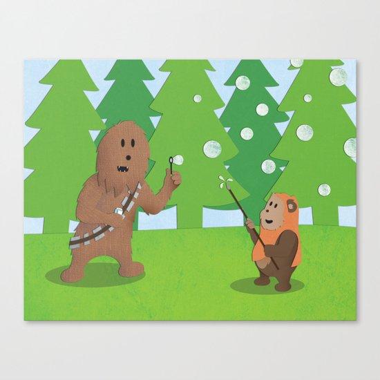 SW Kids - Chewie Bubbles Canvas Print