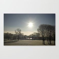 Wicksteed Park in Winter Canvas Print
