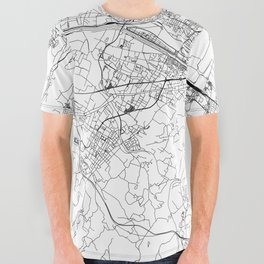 Florence White Map All Over Graphic Tee