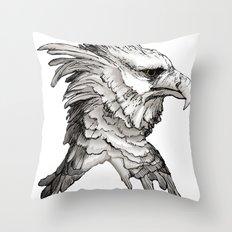 Hawk profile  Throw Pillow
