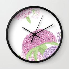 Beautiful hydrangeas Wall Clock