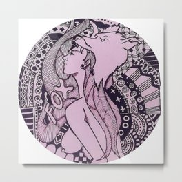 Sexy Nude - Fox Erotic Illustration Metal Print