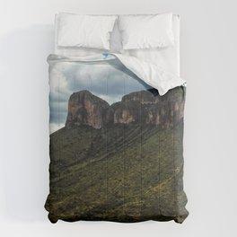 Painted Southern Arizona Greenery Comforters