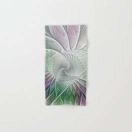Colorful Fantasy Flower, Abstract Fractal Art Hand & Bath Towel