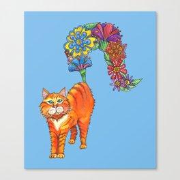Classy Cat Chloe (Blue) Canvas Print
