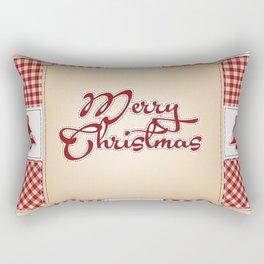 Merry Christmas Quilt Pattern Rectangular Pillow