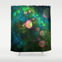 psychadelic Shower Curtains featuring Inner Space by Lyle Hatch