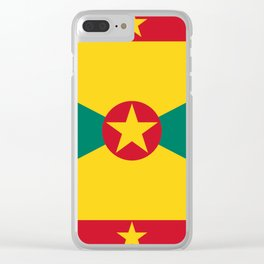 Grenada Flag Clear iPhone Case