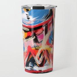Art brut outsider underground graffiti portrait Travel Mug