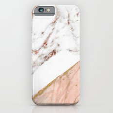 Marble rose gold blended iPhone 6 Slim Case