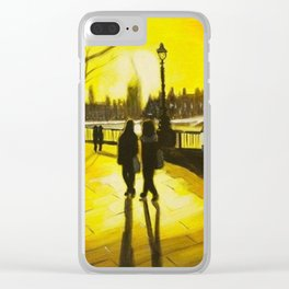 South Bank Sunset Clear iPhone Case