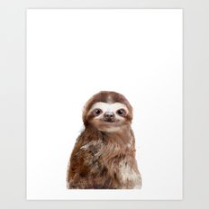 Little Sloth Art Print
