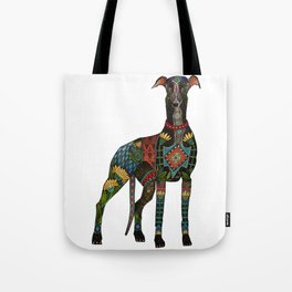 greyhound white Tote Bag