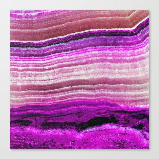 Purple onyx Canvas Print