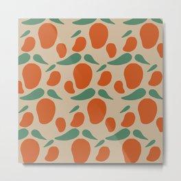 Red Mango Pattern Metal Print