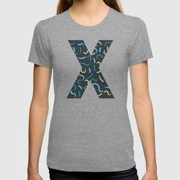 Swish Shapes Initial Monogram Letter X T-shirt